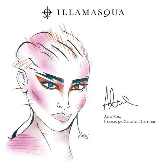 """Алекс Бокс для Illamasqua (вдохновение - образ Дэвида Боуи из фильма """"Лабиринт"""")"""